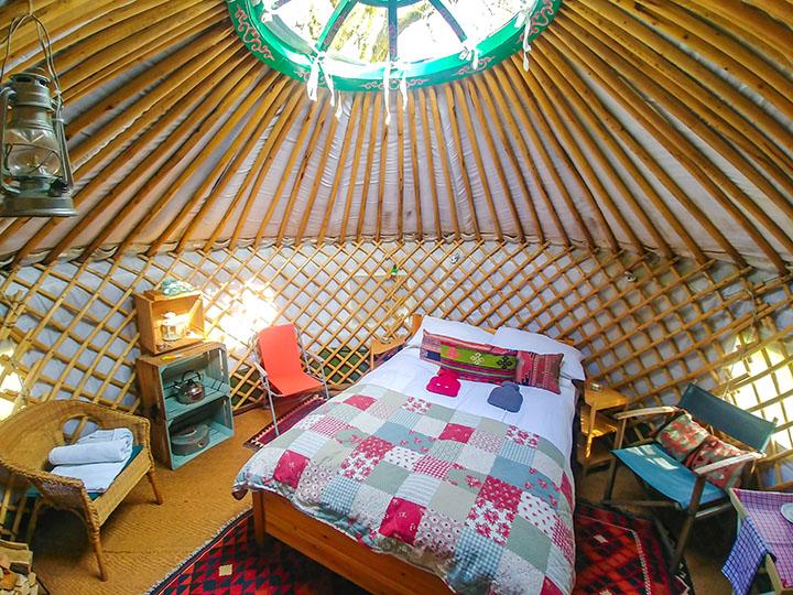 Yurt holiday accommodation-glamping Scotland